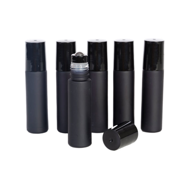 10 ml Glass Bottles with STEEL Roller Tops
