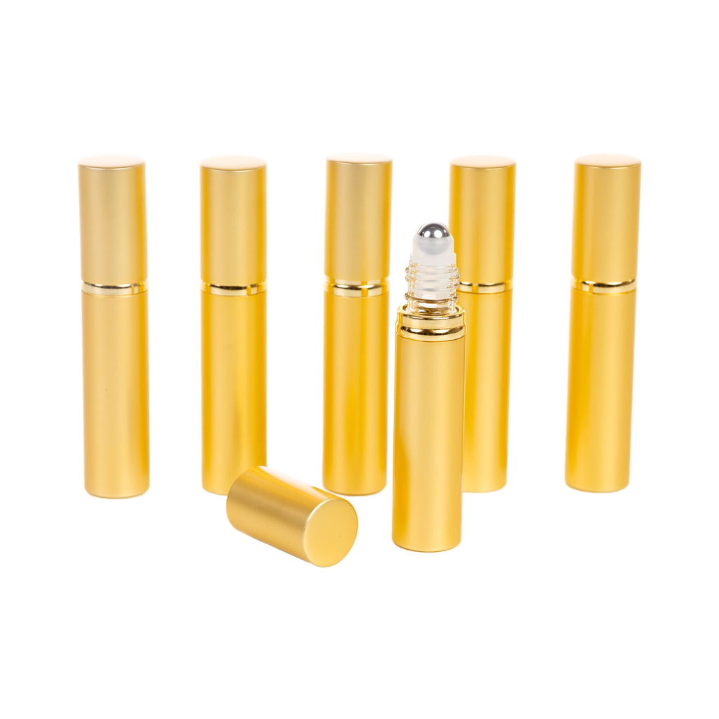 Gold Plated 7 ml Roller Bottles