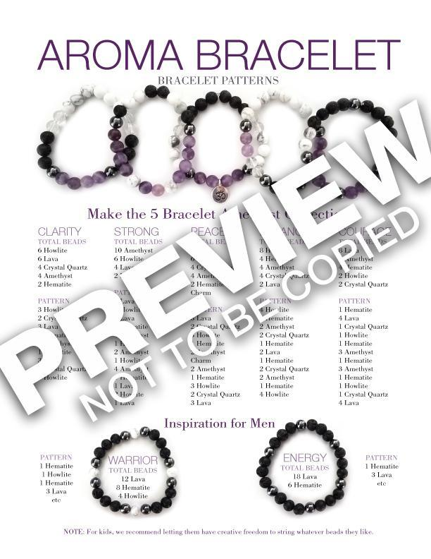 Aroma Bracelet Make & Take Kit - Amethyst, Amazonite