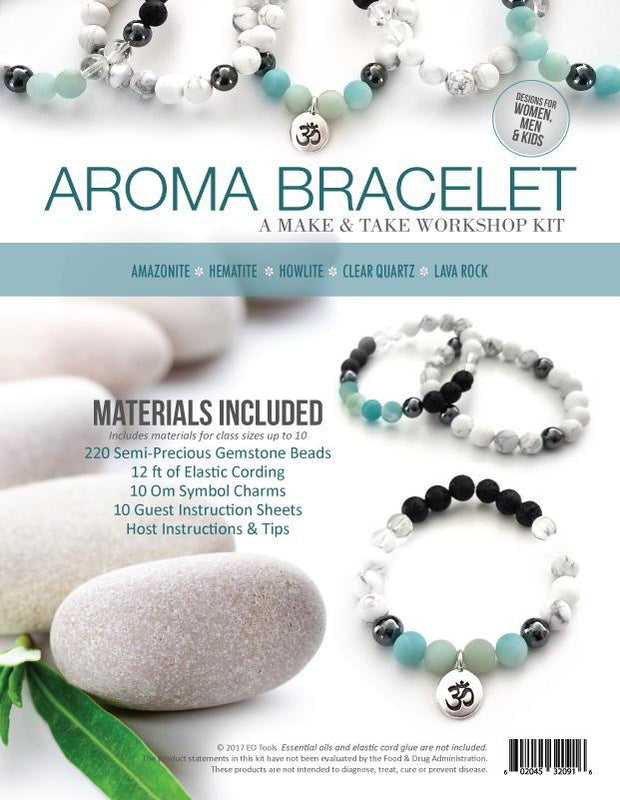 Aroma Bracelet Make & Take Kit - Amethyst, Amazonite - Oil Life