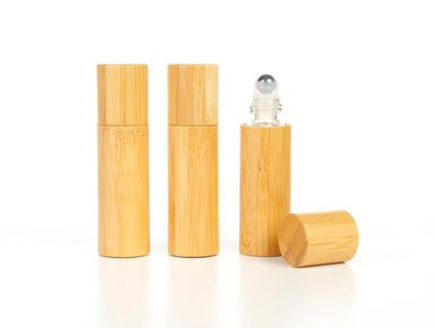 15 ml Roll-on Bamboo cover and Glass Bottle