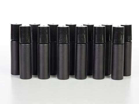 Gemstone Rollers with 10 ml Black Bottles