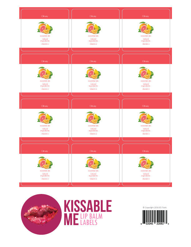 Kissable Me Label Citrusy