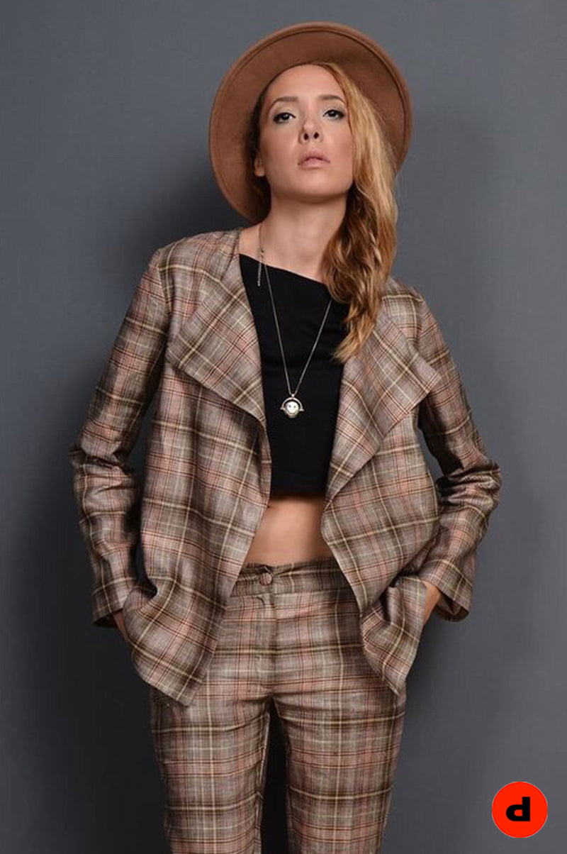 Plaid coat - BastetNoir