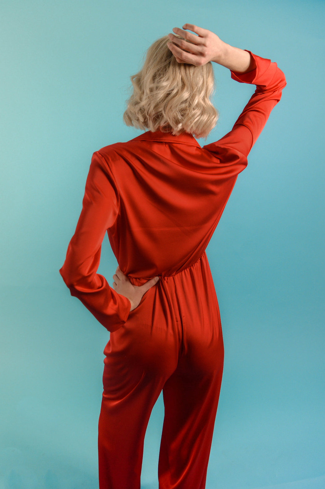 c74e5e6ac19 ... Red Silk Jumpsuit - BastetNoir ...