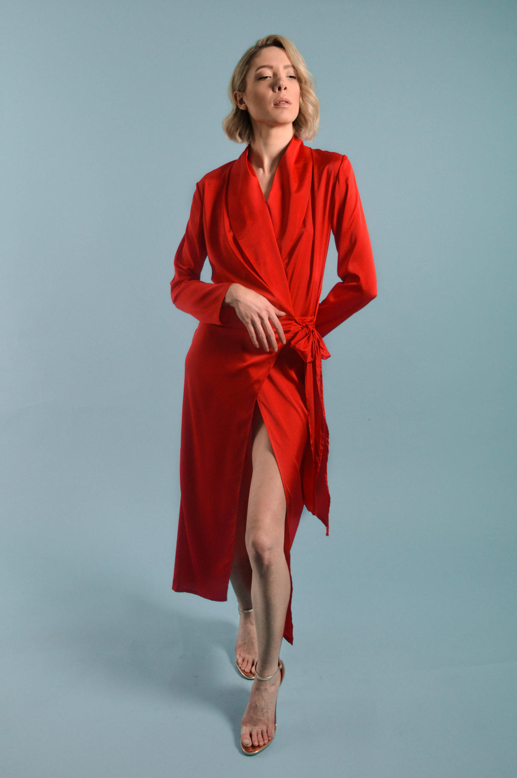 Red Shirt Dress - BastetNoir