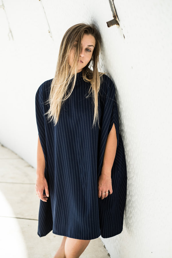 Pinstripe Dress - BastetNoir
