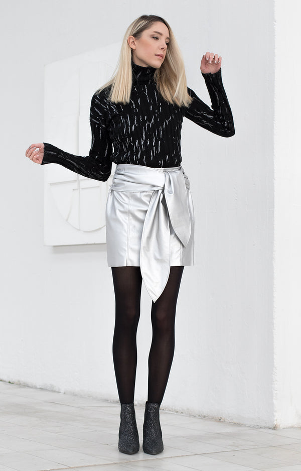 Metallic pencil skirt - BastetNoir