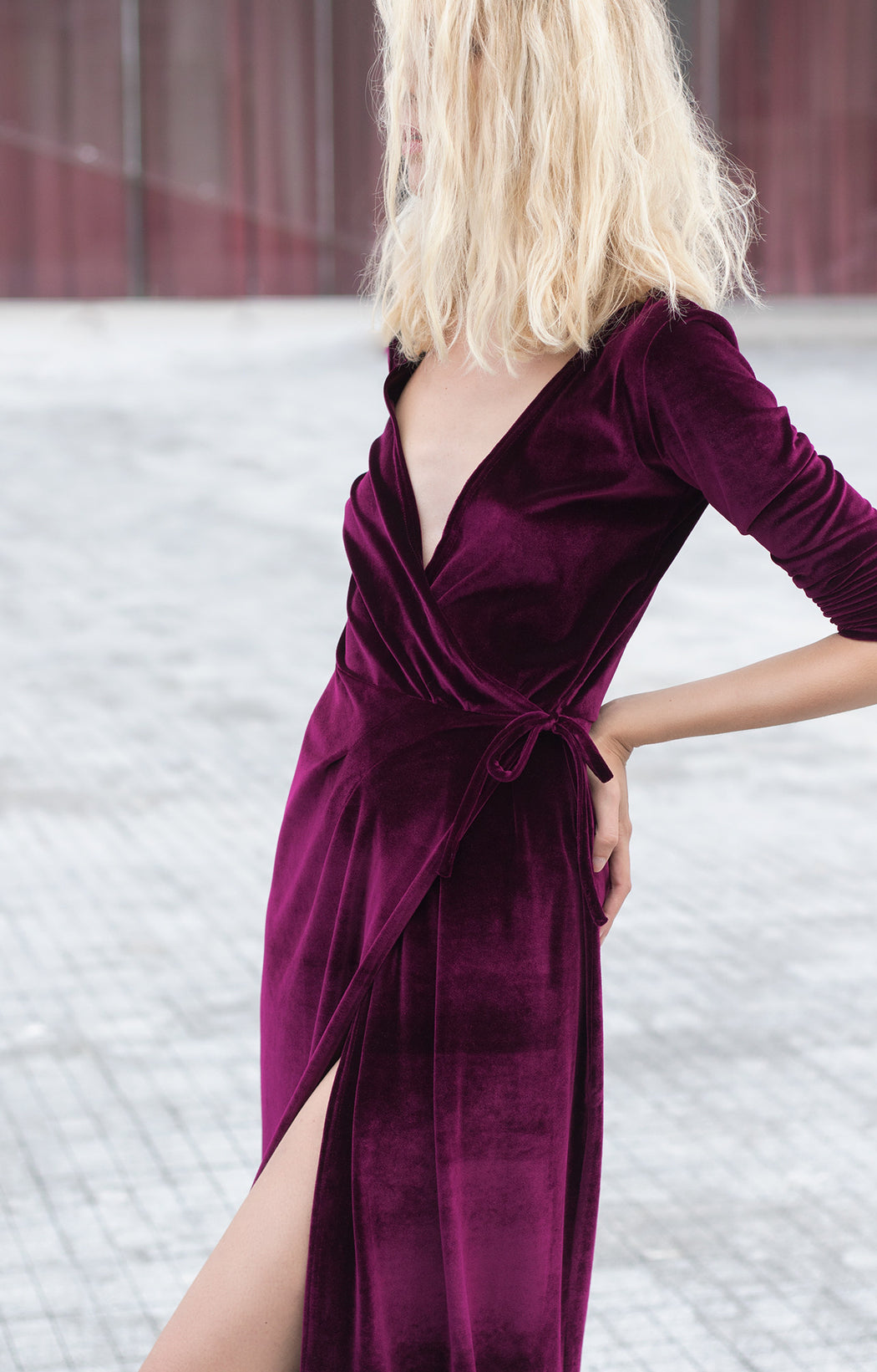 Velvet shirt dress - BastetNoir