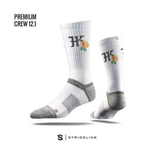 HKP x Strideline - AOGS - High Crew - White - HARDKOUR PERFORMANCE