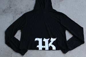 Women's Cropped LS Hoodie - HARDKOUR PERFORMANCE