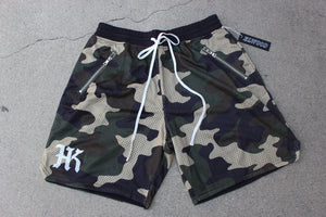 HK Camo Mesh Zip Pocket Shorts - HARDKOUR PERFORMANCE