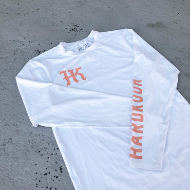 HK White Compression Longsleeve Tee - HARDKOUR PERFORMANCE