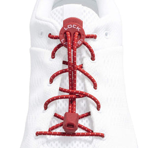 Lock Laces - Red No Tie Shoelaces - HARDKOUR PERFORMANCE