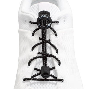 Lock Laces - Black No Tie Shoelaces - HARDKOUR PERFORMANCE
