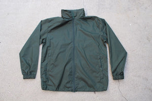 HK Forest Green Windbreaker with Packable Hood