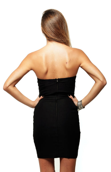Jessica Strapless Infinity Dress - Black