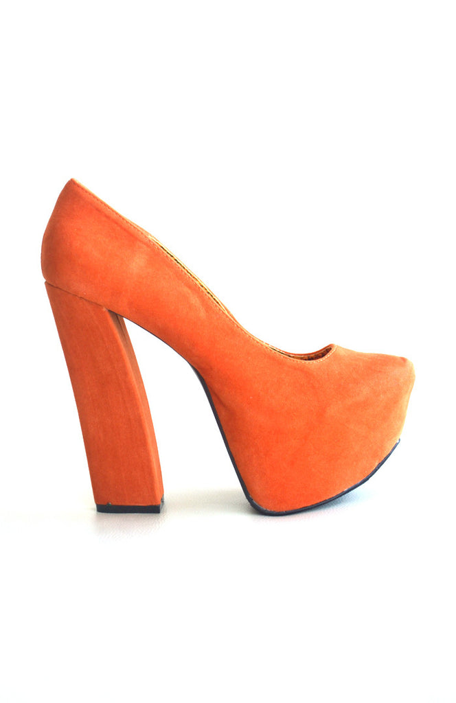 Anne PlatformHigh Heels Pumps- Orange