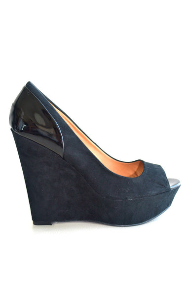 Peeping Tom Wedges - Black