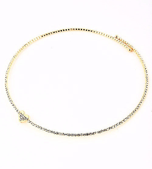 Hearty Rhinestone Choker