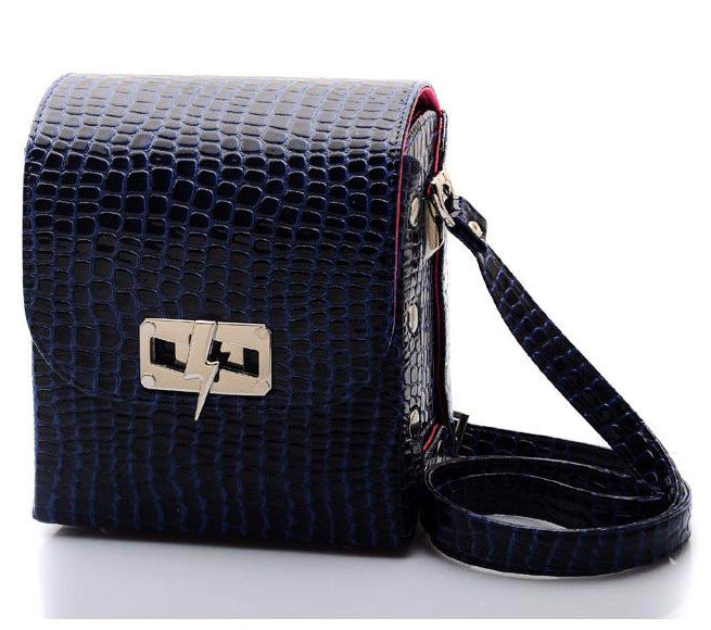 Crocodile Blue Marine Bag