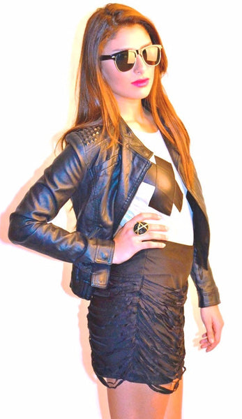 Drapin Mini Skirt – Black