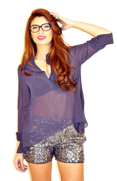 Trapezoid Top - Navy