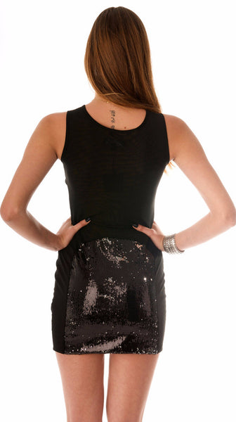 Strategic Sequins Dress