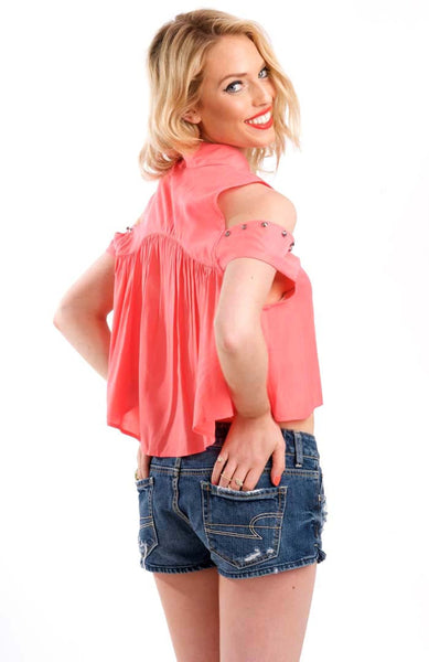 Dixie Cutout Coral Top