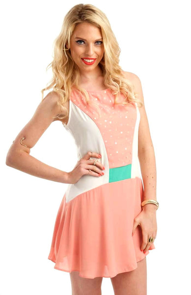 Sequin Star Pink Dress