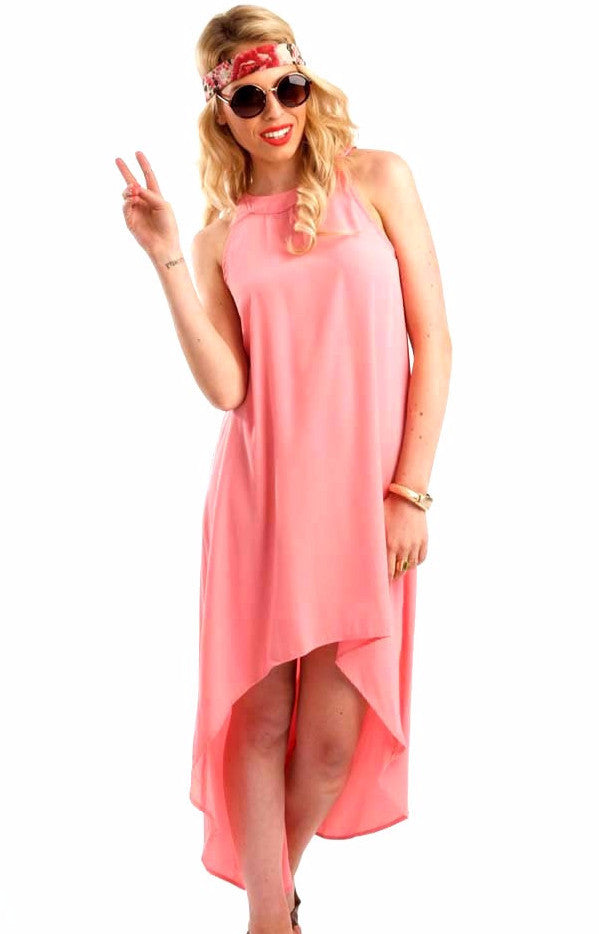 Ophelia Peach Hi Low Dress