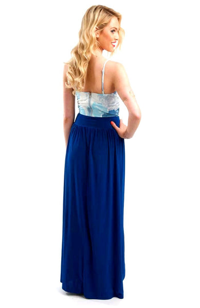 Blue Bloom Bustier