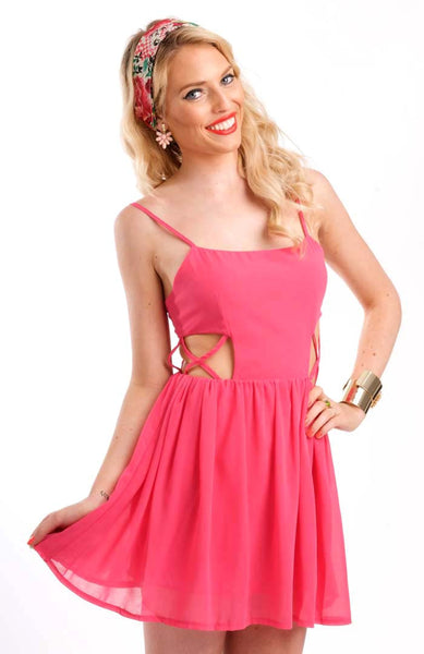 Cut To The Chase Pink Dress