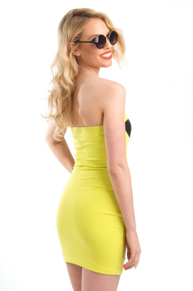 Neon Yellow Highlighter Dress