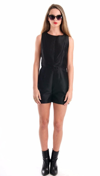 Night Glow Black Romper