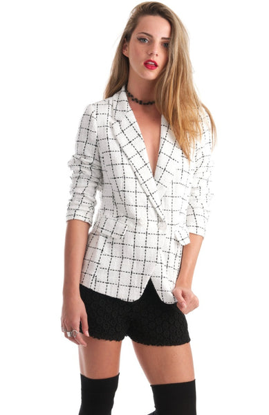 Most Tweeded White Blazer Jacket