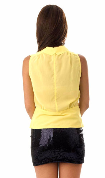Rise and Shine Yellow Sleeveless Shirt