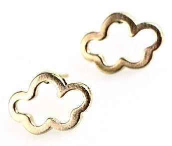 Clear Clouds Earrings - Gold