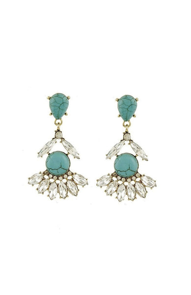 Adriana Turquoise Earrings