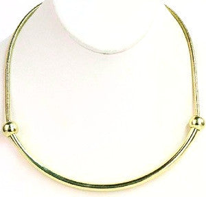 Sliding Curve Necklace - Gold