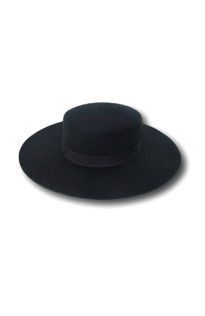 Verona Boater Hat - Black