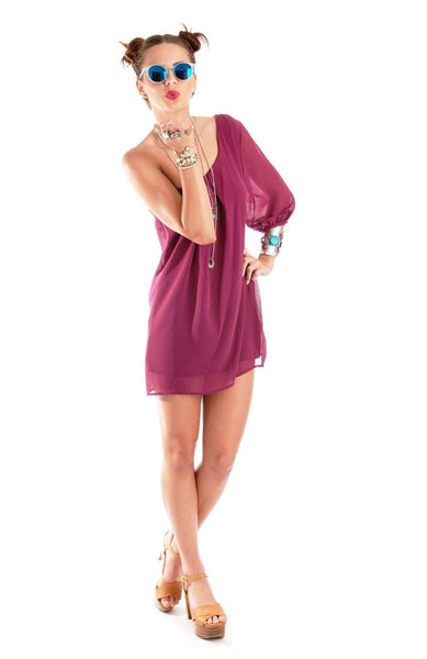 First Date Dress - Plum