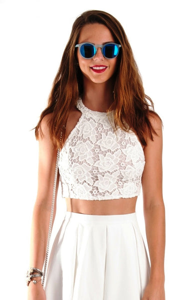 Fresh Start Crop Top Ivory