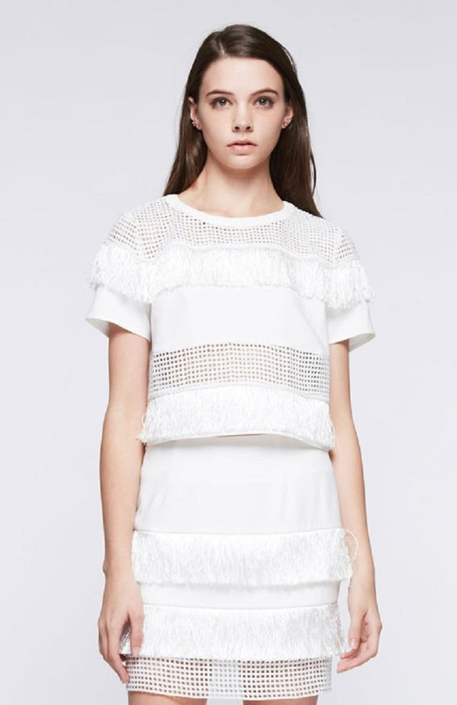 On The Net White Top and Skirt Co-ords