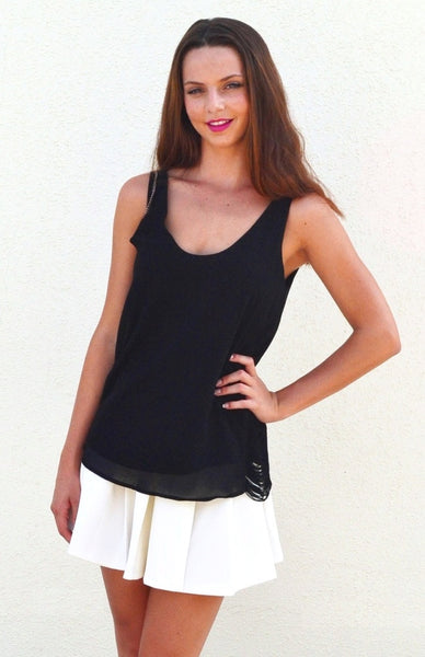 Tassel Intervention Top - Black