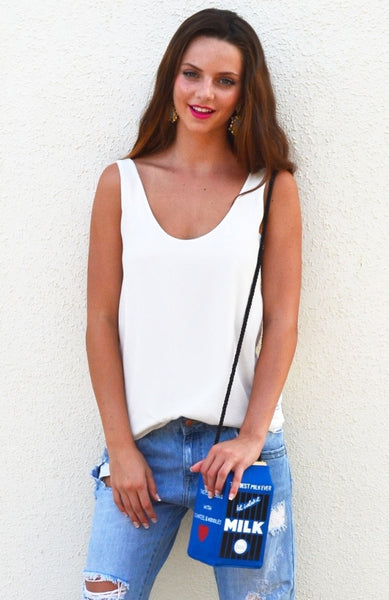 Tassel Intervention Top - White