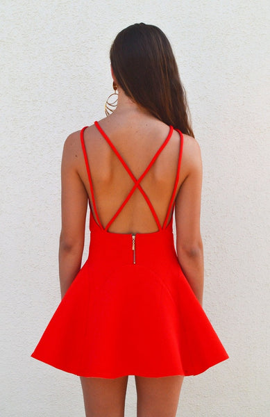 Hot Tamale Orange Open Back Dress