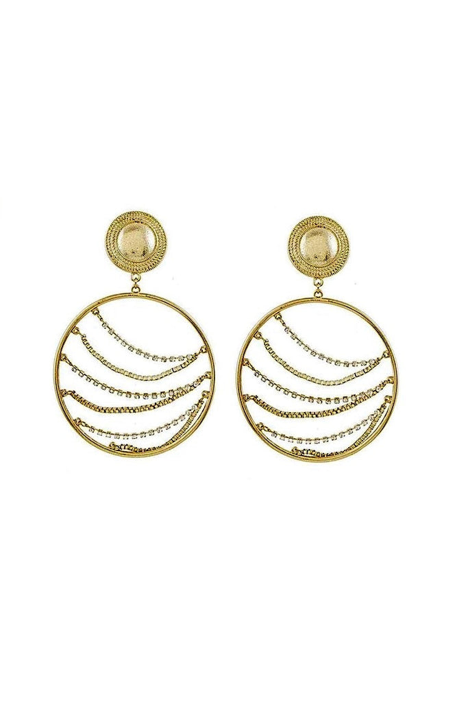Layers Of Joy Gold Large Hoops Earrings