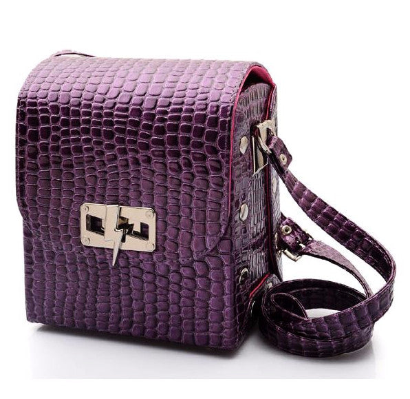 Purple Croco Bag
