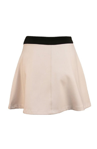 Primary Instincts Taupe Pocket Skirt